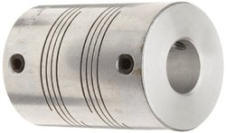 Ruland Screw Beam Coupling - Polished Aluminum - Size: 5mm