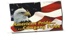 Safetu Baners 'American Pride/Company Pride Banner' - Size: 10ft x 3ft