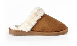 Sociology Quilted Scuff Slipper Dede - Chestnut - Size: 8