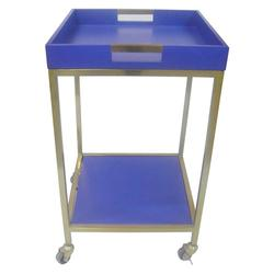 "Threshold Bar Cart with Square Tray - Blue - Size: 18""x18"""