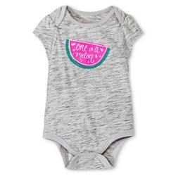 Circo Baby Girl's Bodysuit Printed Watermelon - Grey - Size: 0-3M