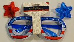 Flashing Blinky Lights Stars & Stripes American Flag Light LED Sunglasses