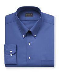 Arrow Men's Solid Color Dress Shirt - Blue - Size: Medium