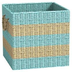 Metro Ashley Cube Storage Basket - Light Blue