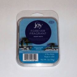 Joy Mangano Forever Fragrant 6 Heart Wax Melts - Oceanside Breeze