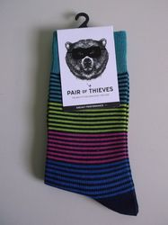Pair of Thieves Men's Sneaky Performance Socks - Multi Stripe - Size: 8-12