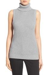 Michael Kors Women's Shaker Knit Turtleneck Sweater - Grey - Size: XL