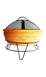 Hacienda San Carlos Round Fire Bowl - Rustic Yellow