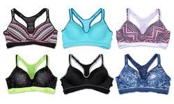 Women's Racerback Sports Bras - Assorted - Size: 36D (6-Pack)