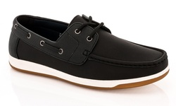 Franco Vanucci Men's Boat Shoes - Black - Size: 9.5M