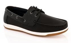 Franco Vanucci Men's Boat Shoes - Black - Size: 9.5M