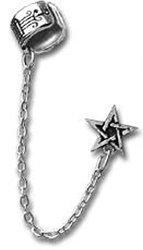 Alchemy Metal-Wear E196 - Pentagram  -Earrings