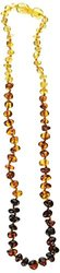 Momma Goose Teething Necklace, Rainbow, 15""