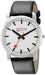Mondaine Gent's Simply Elegant Watch - Black - Size: 41mm