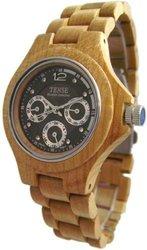 Tense Wood Watch Maple Triple Dial Round Watch Men's G4300M-W