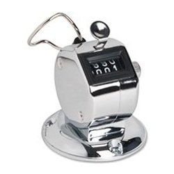 Sparco Hand Tally Counter with Base silver