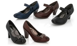 Rasolli Women's Comfort Career Dress Shoes - Brown - Size: 7.5