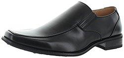 Masimo Slip On Men's Loafer Dress Shoes Leather Lined: Black/11