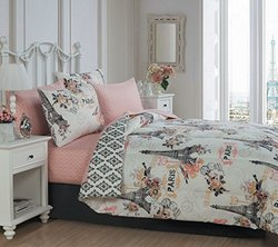 Geneva Home Cherie 8-Piece Bed in a Bag Set - Coral - Size: King