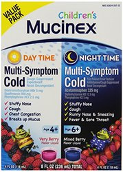 Mucinex Children's Multi Symptom Day & Night Cold Relief Liquid - 8oz