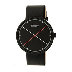 Simplify The 4100 Men's Watch: Sim4101 Black Band-black Dial
