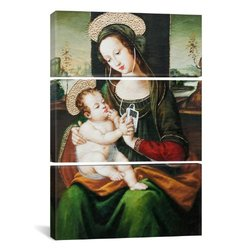 iCanvasART 2110 Silent Night Madonna with Child and Ipod 3-Piece Canvas Print by Banksy, 60 by 40-Inch, 1.5-Inch Deep