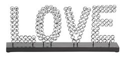 Deco 79 Metal Acrylic Love, 18 by 7-Inch