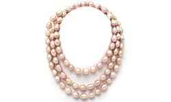 Sevil 48 Sterling Silver 10-11mm Pink Freshwater Potato Pearl Necklace