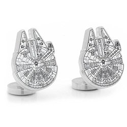 Officially Licensed Star Wars Millenium Falcon Blue Print Cufflinks