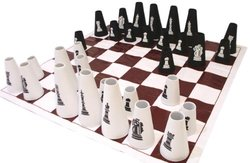 American Educational Chess Set with Cone Checker