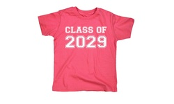 Kidteez Youth Girl's Class of 2029 Short Sleeve T-Shirt - Pink - Size: S