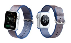 Woven Nylon Replacement Band for Apple Watch 38mm - Royal Blue