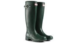 Hunter Stripe Women's Tall Rubber Rain Boot - Green - Size: 5
