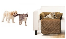 Heaven Comfortable Plush Couch Pet Cozy Bed - Beige - Size: Small
