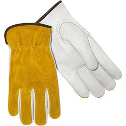 Steiner 0239-Xs Grain Cowhide Drivers Gloves - White/Tan - Size: X-Small