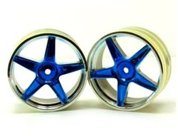 Redcat Racing Chrome Front 5 Spoke Wheels 2PC - Blue