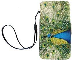 Rikki Knight Peacock Flip Wallet Case Apple iPhone 4 and 4s
