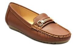 Uncensored Women's Jackie Comfort Wedge Loafer - Tan - Size: 10
