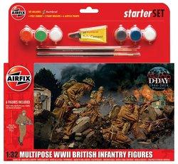 Airfix 1:32 Multipose WWII British Infantry Starter Set