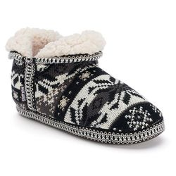 Muk Luks Women's Amira Booties: Grey/small