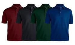 Zorrel Men's Short Sleeve Shadow Stripe Polo 3PK - Forest - Size: Medium