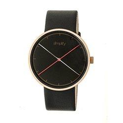 Simplify The 4100 Mens Watch: SIM4106 Black Band-Black Dial