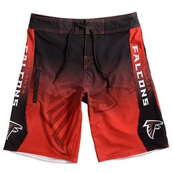 Klew NFL Men's Atlanta Falcons Gradient Board Shorts - Black - Size: M