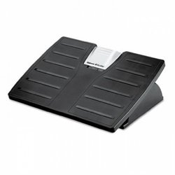 Adjustable Locking Footrest w/Microban, 17-1/2 x 13-1/8 x 4-3/8, Black/Silver