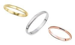 Sevil 14K 2MM Unisex Band Ring  - White Gold - Size: 6