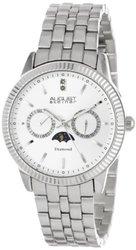 August Steiner Men's AS8050SS Swiss Quartz Multi-Function Diamond Watch