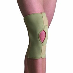 Thermoskin Open Knee Wrap Stabilizer Knee Brace - Beige - Size: X-Small