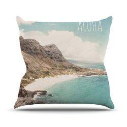 "Kess InHouse Nastasia Cook ""Aloha"" Mountain Beach Outdoor Throw Pillow, 18 by 18-Inch"