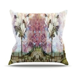 "Kess InHouse Suzanne Carter ""The Magnolia Trees"" Outdoor Throw Pillow, 20 by 20-Inch"