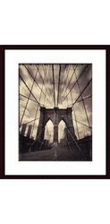 Barewalls 19112S61-BLKCWWTW Brooklyn Bridge by Tom Baril